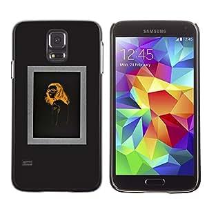 Plastic Shell Protective Case Cover || Samsung Galaxy S5 SM-G900 || Orange Black Design @XPTECH