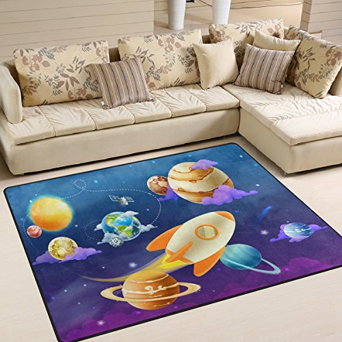 ALAZA Solar System Planet Earth Sun Area Rug Rugs for Living Room Bedroom 7' x 5' by ALAZA