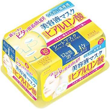 KOSE Clear Turn Essence Hyaluronic Acid Facial Mask 30 pcs