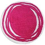 InterDesign Doodle Bedroom and Bathroom  Accent Rug, Pink