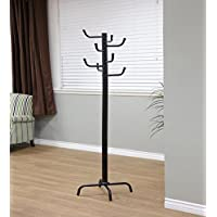 Frenchi Home Furnishing 8 Hooks Black Metal Coat Rack