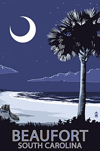 Beaufort, South Carolina - Palmetto Moon