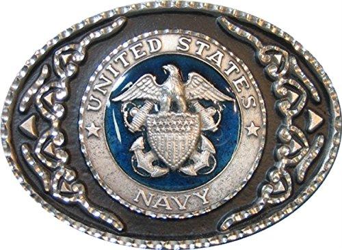 Navy Belt Buckle (Colorado Silver Star Pewter U.S. Navy Belt)