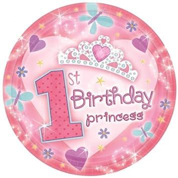 18 Kleine Pappteller First Birthday Princess 1 Geburtstag