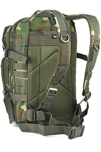 b14686694368 Mil-Tec Military Army Patrol Molle Assault Pack Tactical Combat Rucksack  Backpack Bag 20L Woodland Camo