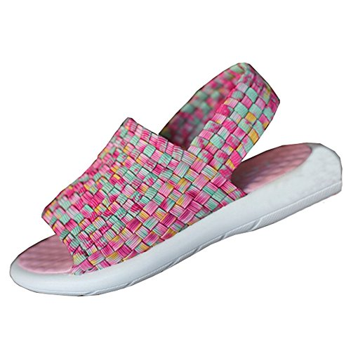 Getmorebeauty Girls Pink Comfort Straps Beach Summer Flat Wedge Sandals 5 B(M) US Little Kid