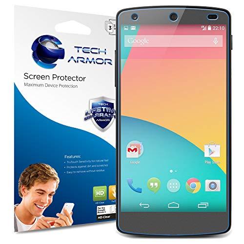 ctor, Tech Armor High Definition HD-Clear Google Nexus 5 Film Screen Protector [3-Pack] ()