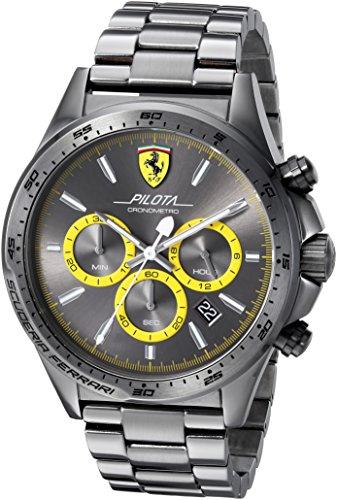 Scuderia-Ferrari-Mens-PILOTA-Quartz-Resin-Casual-Watch-ColorGrey-Model-0830391