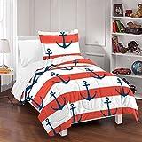 Dream Factory Sail Away Comforter Set, Full/Queen, Red