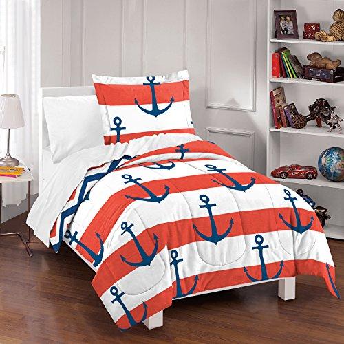 dream FACTORY Sail Away Comforter Set Full/Queen Red