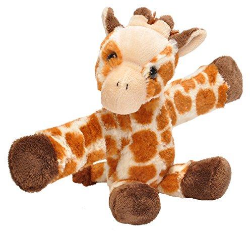 Wild Republic Huggers Giraffe Plush Toy, Slap Bracelet, Stuffed Animal, Kids Toys, 8 inches Wild Animals Giraffe