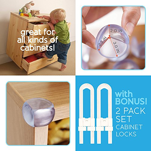 Baby Proofing Corner Guards Clear 12 Pack Best Safety
