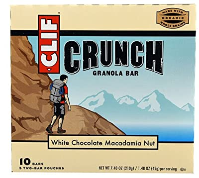 Clif Crunch Granola Bar White Chocolate Macadamia Nut -- 10 Bars
