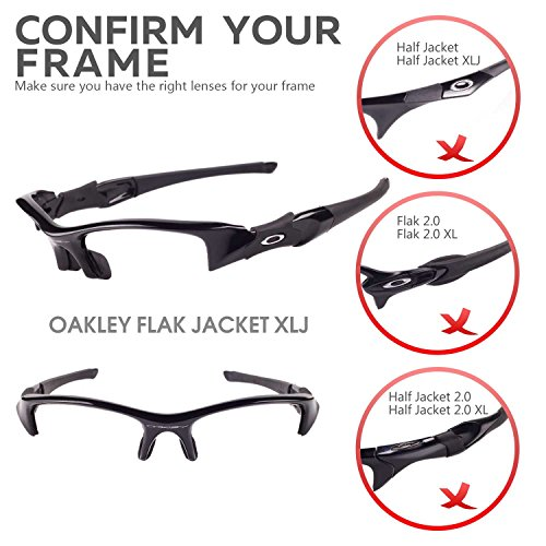 92a2737252 Walleva Replacement Lenses for Oakley Flak Jacket XLJ Sunglasses - Multiple  Options Available (24K Gold