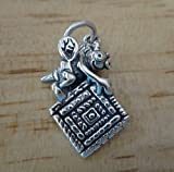 Sterling Silver 23x17mm Quilting Bee Quilt Square Sew Charm Jewelry Making Supply, Pendant, Charms, Bracelet, DIY Crafting by Wholesale Charms