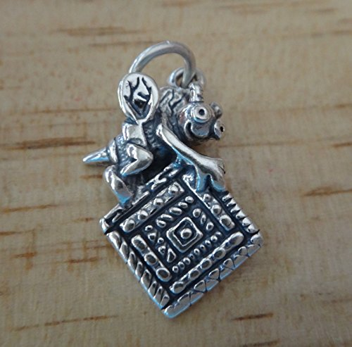 Sterling Silver 23x17mm Quilting Bee Quilt Square Sew Charm Jewelry Making Supply, Pendant, Charms, Bracelet, DIY Crafting by Wholesale Charms by Wholesale Charms