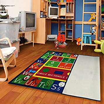 Furnish my Place 755 Shape 5X7 Kids ABC Alphabet Numbers Educational AreaRug Oval Multicolor 44X69