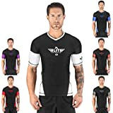 Elite Sports Short Sleeve Compression, MMA, BJJ, No-Gi, Cross Training Rash Guard
