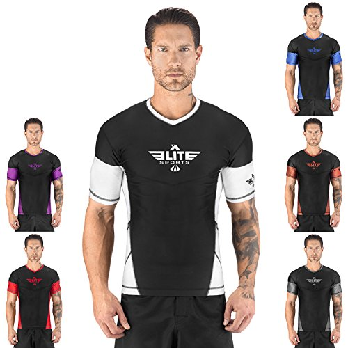 Elite Sports NEW ITEM Short Sleeve Compression, MMA, BJJ, No-Gi, Cross Training Rash Guard