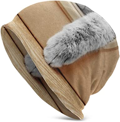 Gato Lindo en Caja de cartón Gorro de Punto para Hombres Sombrero de Punto cálido Gorro de Calavera para Hombres Gorro de Gorro para Hombre Impreso en 3D Comfortbale Adulto Suave: Amazon.es: