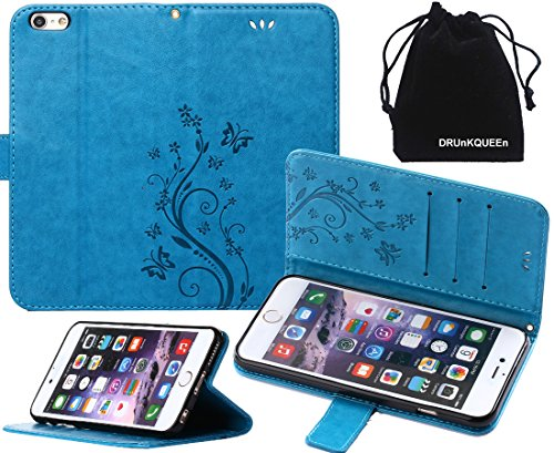Price comparison product image DRUnKQUEEn iPhone 6s Case,  iPhone 6 Case,  Premium Quality Protective Flip Folio PU Leather Cover Wallet Phone Holder with Foldable Kickstand for Apple iPhone6 / iPhone6s