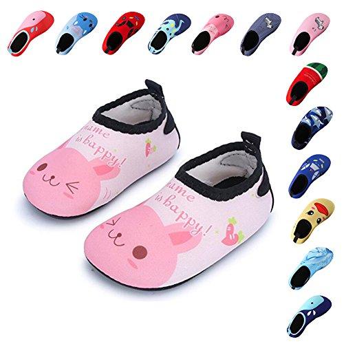 Schuhe Laiwodun Pink Schuhe Schwimmen Unisex Surfen Aqua Beach Kleinkind Barefoot Schuhe für Yoga Pool Wasser Mädchen rAIcpAwqF