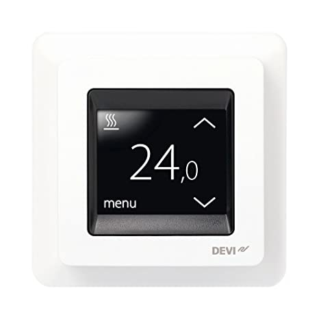 Devireg Touch Polar Blanco – Termostato para suelo radiante con pantalla táctil