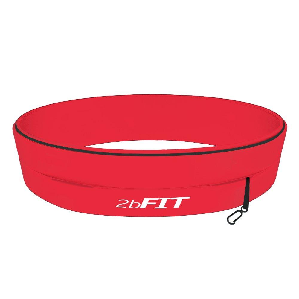 2bFIT Pack organisateur ceinture pour course ou jogging-Idéale pour une séance d'entraînement, de fitness, d'entraînement sportif, de gymnastique-Ceinture avec portefeuille de téléphone et porte-monnaie- Ceinture avec porte-clés-ceinture extensible -Quatr