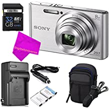 [Patrocinado] Sony DSCW830 20.1 MP ULTIMATE Professional Digital Camera Bundle (Silver) - Camera + Travel Case + High-speed 32GB SD Card + Rechargeable Battery / Charger + Ultra Gentle DigitalUniverse CLOTH