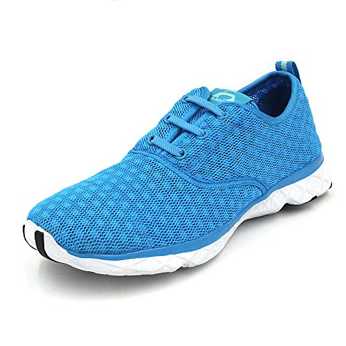 Amoji Kids Water Aqua Shoes Swim Sneakers (Toddler/Little Kid/Big Kid) Blue 1 M US Little Kid