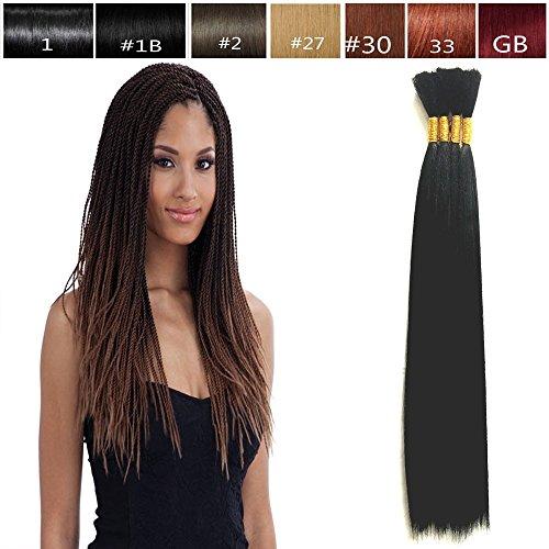 Hot Selling Yaki Bulk Braiding Hair, Human Hair Quality, Braids Hair Extensions for Twists, US SELLER! Length 18