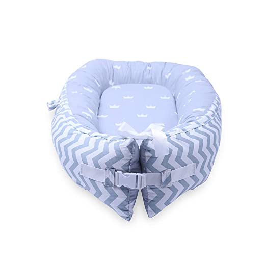 LOAOL Baby Portable Lounger Snuggle Infant Nest Bassinet Reversible Co Sleeping Cribs Newborn Bumper...