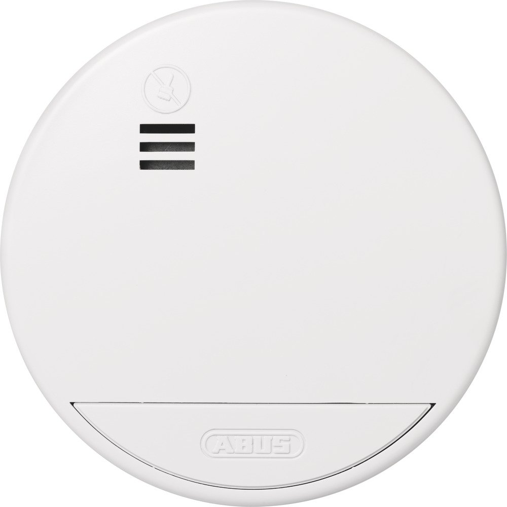 ABUS RWM50 Sensor ó ptico Inalá mbrico - Detector de Humo (Baterí a, 3 V, Litio, 2 Añ o(s), 10 cm, 36 mm) 2 Año(s) 04381