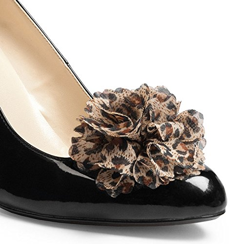 Animal Print Shoe Clip Flowers Gia