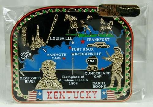 Nations Treasures Kentucky State Magnet Louisville Horses Cumberland Gap