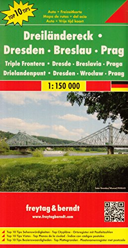 (Germany, Poland, Czech Republic - Tripoint Border Area 1:150,000 (Dresden - Prague - Wroclaw) Touring Map)