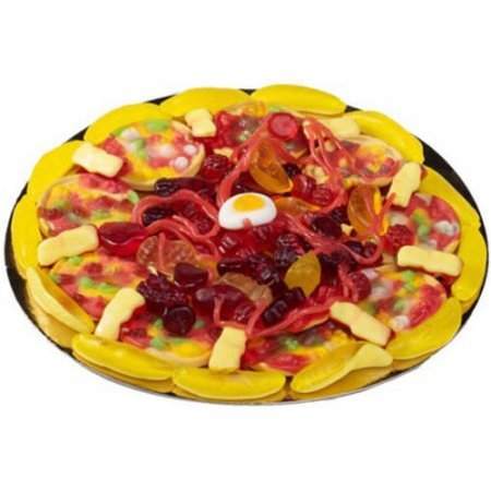 Raindrops Mini Candy Gummy Pizza 3 oz (Meat Pizza)