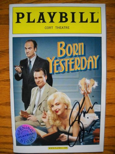 - Nina Arianda Signed Opening Night Color Playbill Silver Seal Cover Born Yesterday