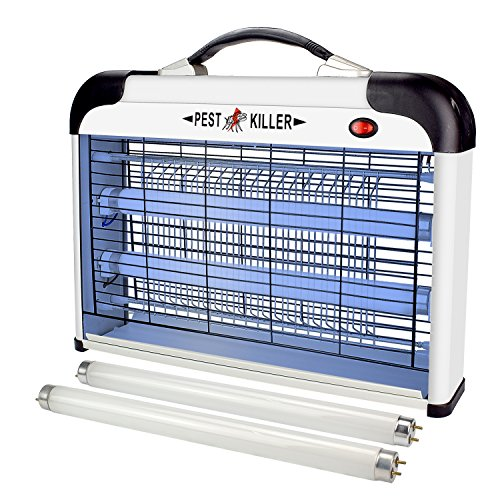Killer Lamp (Flantor Electric Bug Zapper with Hanger, 2 Extra Free Bulbs Included UV Lamp Insect Bug Fly Mosquito Killer 2800V Large Area Mosquito Killer)