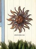 Large Metal Sun Wall Decor Rustic Garden Art For Sale