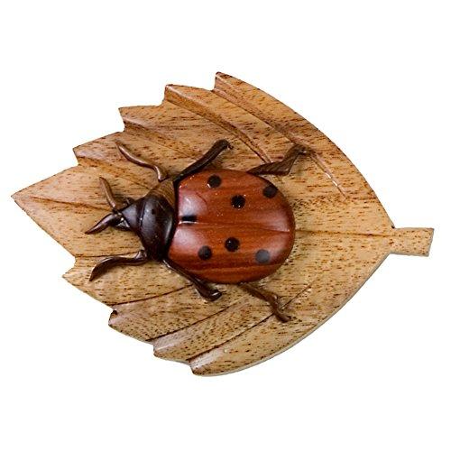 [Ladybug Wooden Magnet] (Pet Ladybug Costume)
