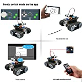 Smart Robot Car Kit, Keywish Panther-Tank Robot for Arduino IDE Project,with BLE Development Board,Ultrasonic Sensor,Great Educational STEM Toys, Support Scratch Library