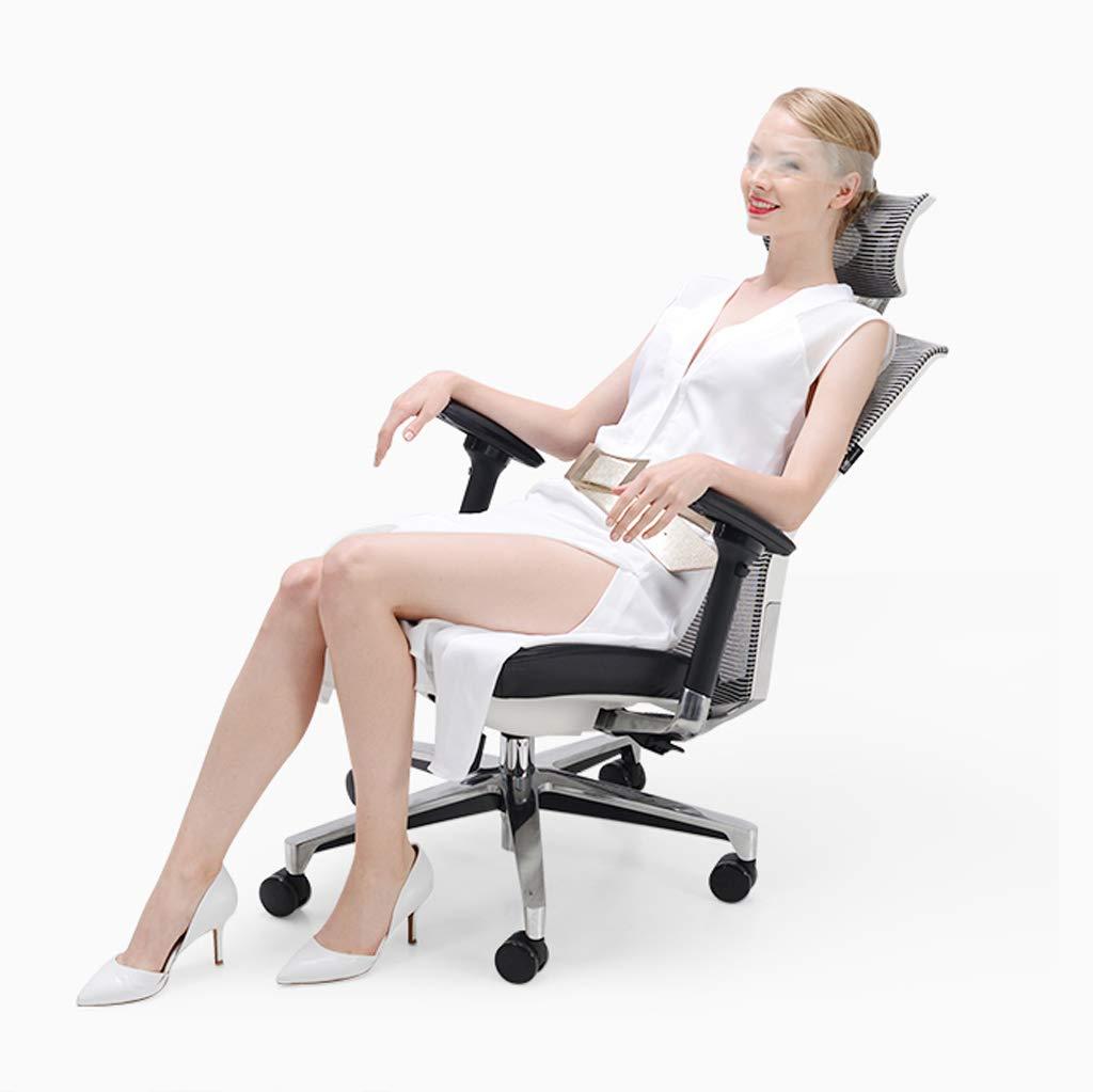 Kontorsstol chef stol dubbel rygg lyft midja ergonomi esportar säte kontor internetcafé bow Vitt Vitt