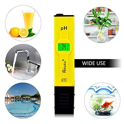 Digital PH Test Pen, PH Meter Water Tester, 0-14.0 pH Range, 0.1 pH Accuracy by Petutu (Image #4)