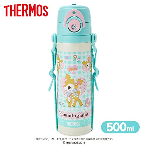 Price comparison product image [Hummingmint] Thermos sports bottles water bottle insulated-flowers 500 ml