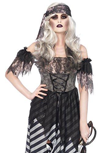 Leg Avenue Women's Plus Size 3PC.Ghost Pirate, Grey/Black, X-Large