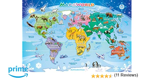 cobble hill map of the world 48 piece floor puzzles amazon canada