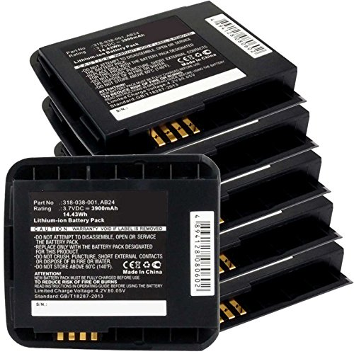 6x Exell EBS-CN50X Li-Ion 3.7V 3900mAh Batteries For Intermec CN50. Replaces Cameron Sino CS-ICN500BX, INTERMEC 318-038-001, AB25 by Exell Battery
