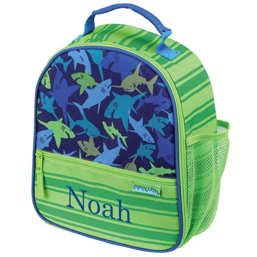Personalized Shark Lunchbox, 9'' x 10.5'' x 4'', Insulated, Multiple Pockets (Personalized Lunch Box)