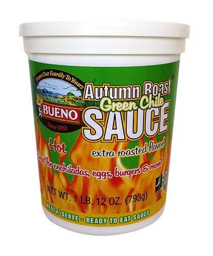 Autumn Roast Green Chile Sauce, HOT, 28oz. Tubs, Pack of 4, Frozen by Autumn Roast Green Chile Sauce
